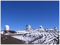 Keck Observatory with snow