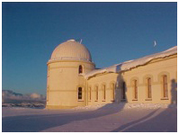 Lick Observatory with snow
